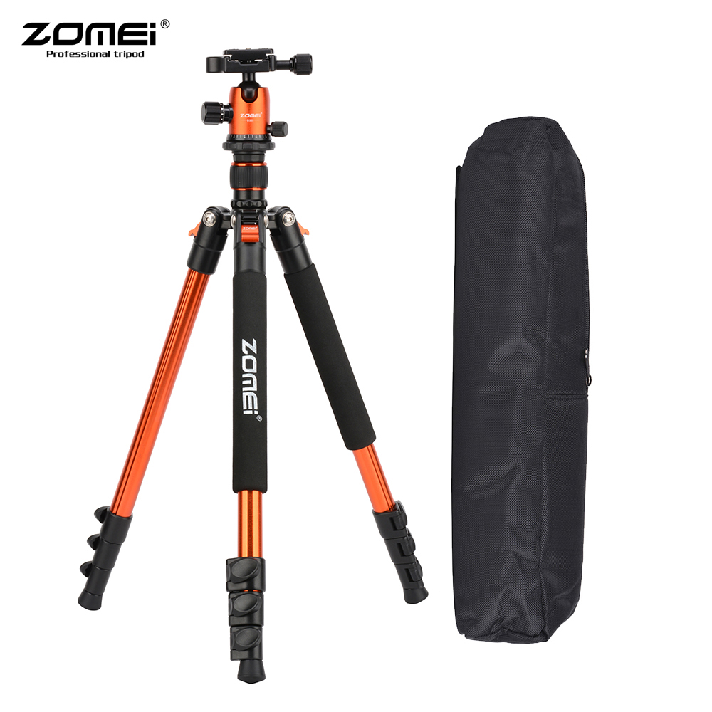 ZOMEI Lightweight Aluminum Alloy Travel Portable Camera Tripod with Ball Head Quick Release Plate for Canon