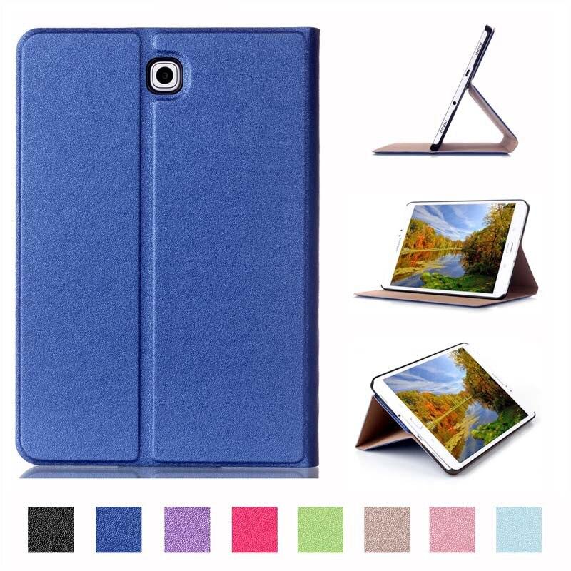 check out 22908 6d26f US $11.9 20% OFF Tab S 2 8.0 pintar kasus penutup, Sentuh seri tiga lipat  sandal kasus PU kulit untuk Samsung Galaxy tab, S2 8.0 SM T710 T715 Tablet  ...