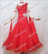 Twinkle Red Ballroom Waltz Tango Ballroom Dance Dress, Smooth Ballroom Dress,Standard Ballroom Dress Girls B-0093