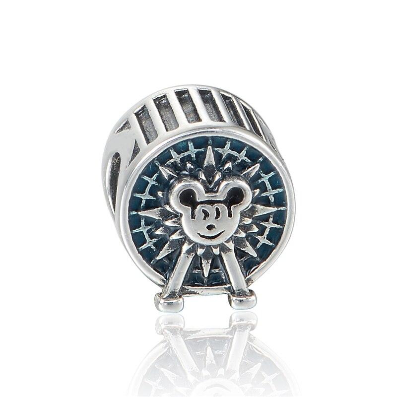 Serve Charm Bracelet & Gargantilha Ferris Wheel Prata Beads Para As Mulheres Presente 925 Prata Jewely DIY Atacado