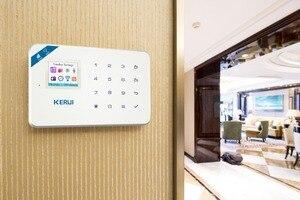 Image 3 - KERUI WIFI GSM פורץ אבטחה IP מצלמה APP בקרת בית PIR Motion גלאי דלת חיישן אזעקת גלאי אזעקה