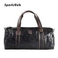 SPORTSHUB Soft PU Leather Men's Sport Bags Gym Bag Sports Designer HandBag Fitness Bags Travel Case Workout Shoulder Bag SB0026