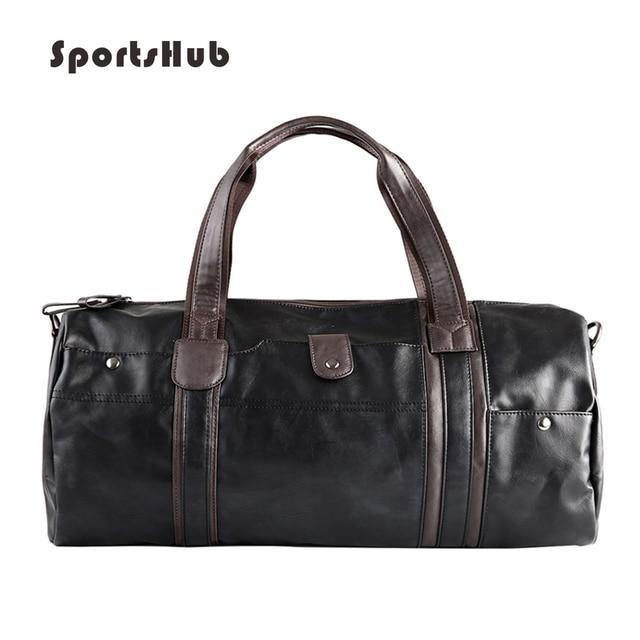 295ed30cf2c87 SPORTSHUB miękkie PU skóra męska torby sportowe siłownia torba sportowa  projektant torebki Fitness torby podróży Case
