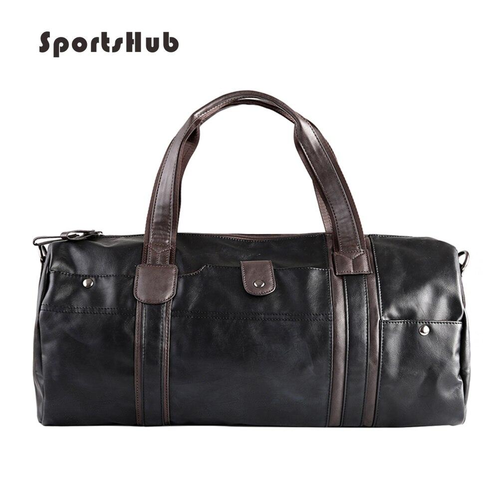 SPORTSHUB souple en cuir PU sacs de Sport pour hommes sac de Sport sac à main Designer de Sport sacs de Fitness étui de voyage sac à bandoulière d'entraînement SB0026