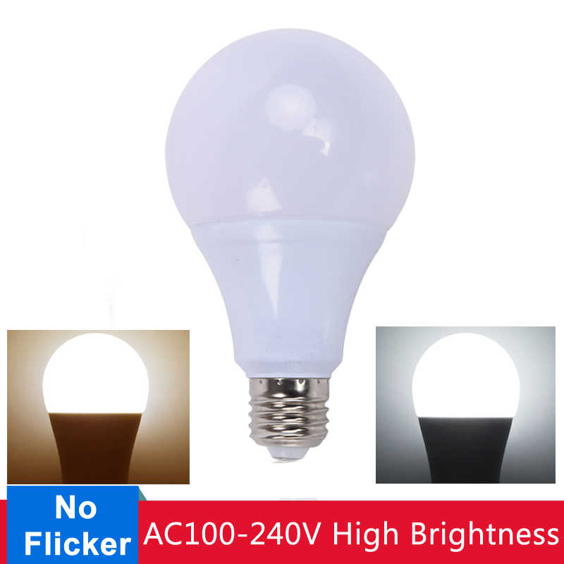 E27 LED Lamp Bulb Energy Saving LED Bulb 3W 5W 7W 9W 12W 15W 18W LED Light AC220V Cold White Warm White for Home Lighting