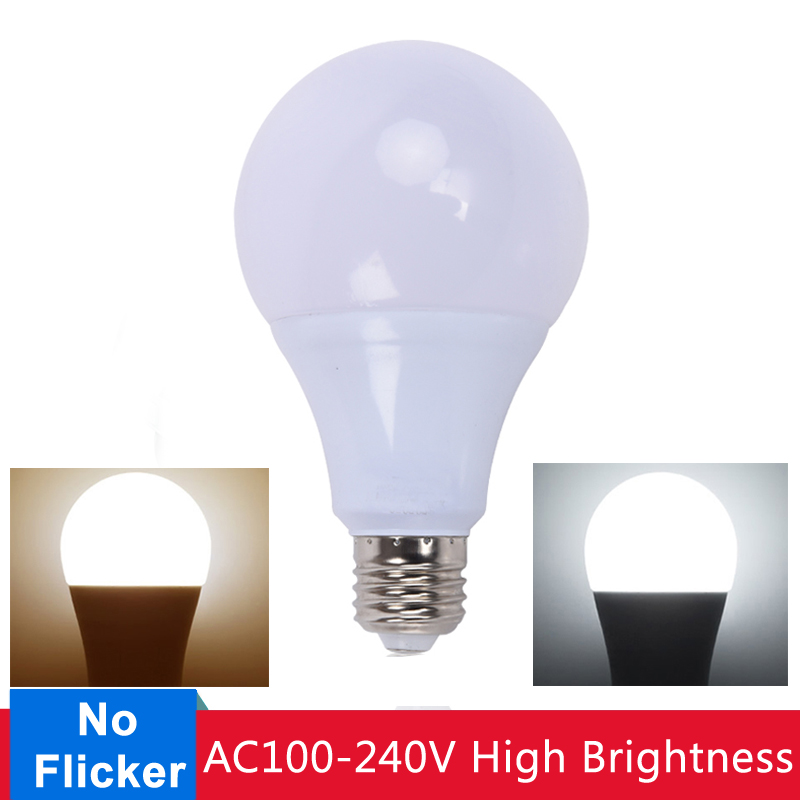 <font><b>E27</b></font> <font><b>LED</b></font> Lamp <font><b>Bulb</b></font> Energy Saving <font><b>LED</b></font> <font><b>Bulb</b></font> 3W 5W 7W 9W 12W 15W <font><b>18W</b></font> <font><b>LED</b></font> Light AC220V Cold White Warm White for Home Lighting image