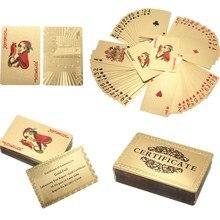 Сертификат карат гальваническим игральные покер золотая фольга коллекция к игры карты