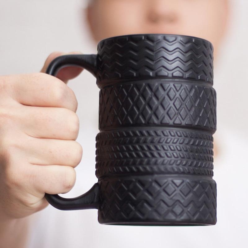 350ml Creative Tire Ceramic Mug Large Capacity Porcelain Coffee Milk Tea Black Cups Novelty Gifts|Mugs| - AliExpress