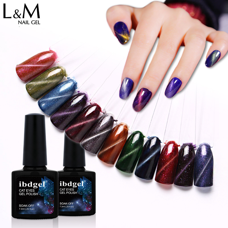 Beauty & Health 1pc Ibdgel Chameleon Cat Eyes Gel 12 Colors 7.3ml Uv Led Gel Nail Polish Magnetic Magic Stick Gradient Uv Gel Polish Traveling