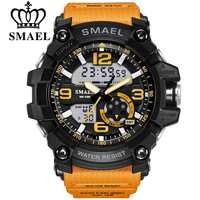 SMAEL Digital Watch Men Sport Super Cool Men S Quartz Sports Watches Brand Luxury Brand LED