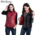 2017 New Women's Warm Vests Ultra Light Down Vest Double Side Sleeveless Jacket Gilet Reversible Gilet Plus Size With Carry Bag