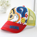 Fit 2-8 Years Baseball Caps For Kids Mouse Mesh Cartoon Hip Hop Boys Girls Caps Summer Sun Hat Children Snapback Casquette