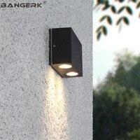 Simples ao ar livre lâmpada de parede moderna 2 w led luzes da varanda à prova dwaterproof água ferrugem arandela lâmpadas jardim decoração para casa iluminação alumínio