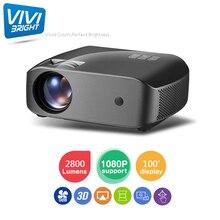 F10 2800 Lumens 1920X1080 Real Full HD Projector, HDMI USB PC 1080p LED Home Mul