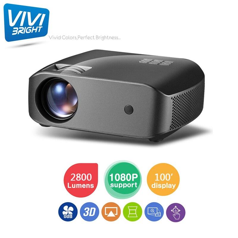 F10 2800 Lumens 1920X1080 réel projecteur Full HD, HDMI USB PC 1080 p LED maison multimédia projecteur de jeu vidéo Proyector