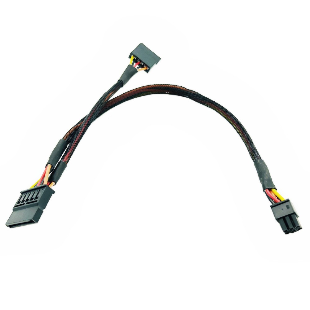 6Pin To Splitter 15Pin SATA Power Cable For DELL Vostro 3650 3653 3655 Desktop Computer HDD SSD Power Supply Expansion Cable NEW