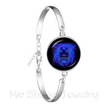 2018 Classic Bracelet Galaxy Constellation Design 12 Zodiac Sign Horoscope Astrology Chain Bangle For Women Gift(China)