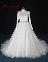 2017 real photo nowy lace wysoka neck suknia Ślubna moslem gorąca sprzedaż suknia ślubna ślubnej sukni na zamówienie fabryczne bezpośrednio