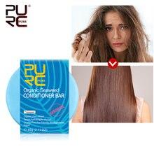 11.11 purc grande desconto orgânico cabelo algas condicionador barra artesanal sólido condicionador de cabelo sabão portátil para viajar barra
