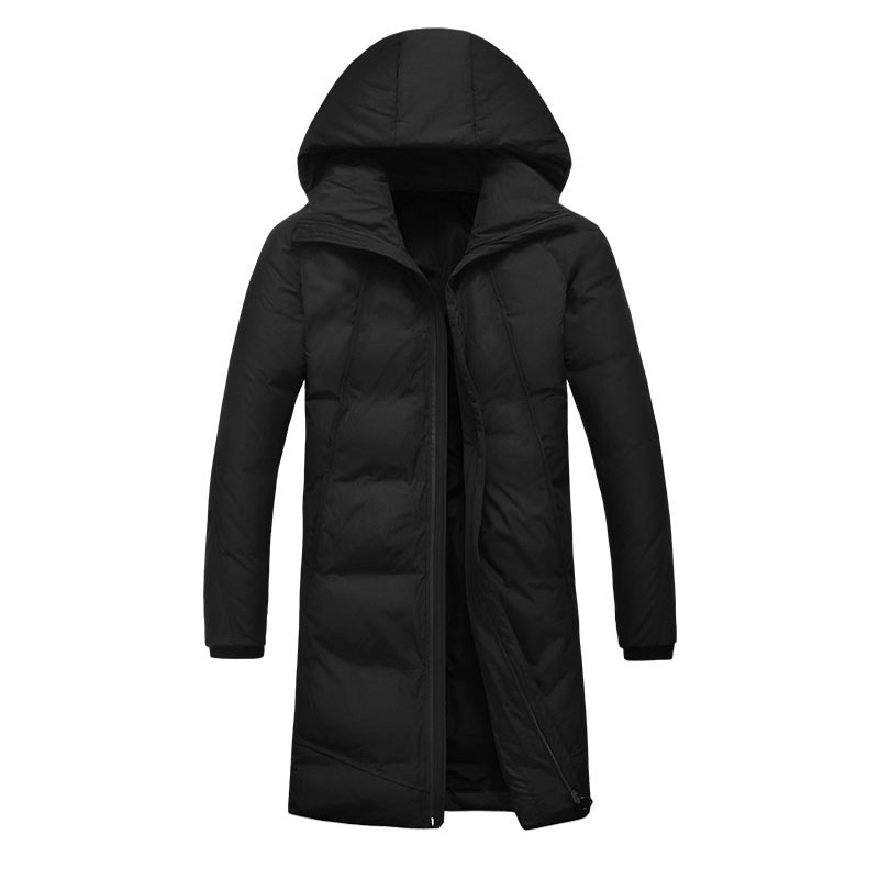 -30 Degree Temperature Hooded   Parka   Men Cotton Padded Long Thick Warm Casual Winter Jacket Men