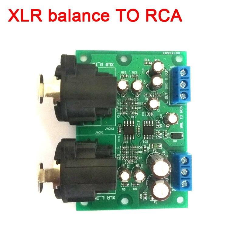DYKB Stereo XLR balanced audio input Conversion to RCA audio output