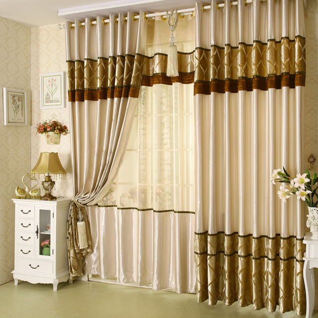 2016 New Curtains For Dining Living Bedroom Room Fancy Satin ...