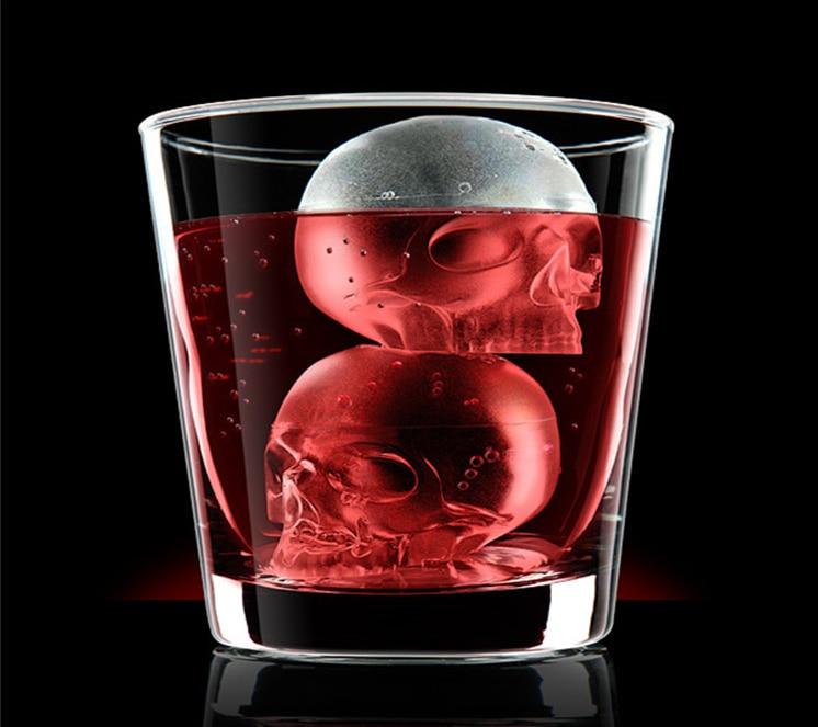 Molde de silicona 6 * 6 * 2 cm Creativo 3D Skull Ice Cube Tray Cake - Cocina, comedor y bar - foto 6
