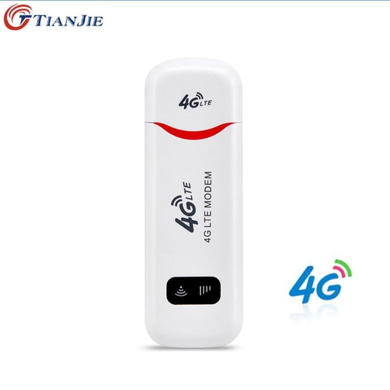 TIANJIE 4G WiFi Modem LTE USB Hotspot wireless Sim Dongle For Windows Mac OS