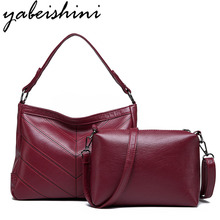 Yabeishini Brand 2PC/Set Fashion Women Bags Pu Leather High Quality Crossbody For Messenger Bag Female Tote 2018