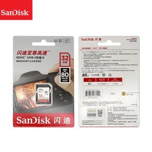 Image 5 - 100% SanDisk Ultra 16GB 32GB 64GB 128GB classe 10 carte SD SDHC SDXC carte mémoire C10 80 mo/s carte sd prise en charge vérification officielle