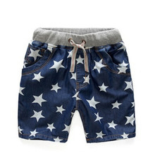 New summer boys jeans short cotton kids clothing childrens shorts pants baby Star pattern style