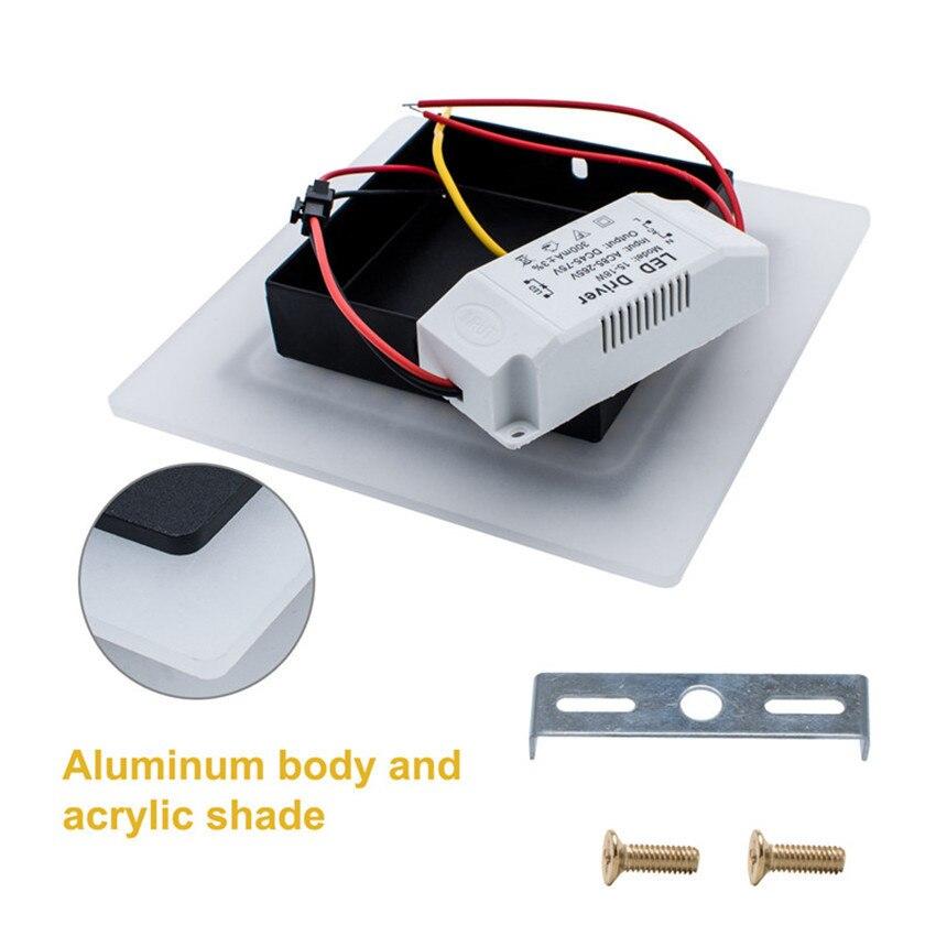 18 watt LED Deckenleuchte Aluminium Acryl Wohnkultur Deckenleuchte - Innenbeleuchtung - Foto 4