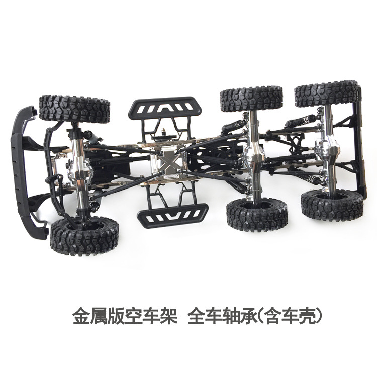 1:10 Simulation 6*6 Metal Upgrade Climbing  Climbing Remote Control Car Vehicle Empty Frame Model Toy Car Model infrared remote control simulation brazil turtle toy animal model