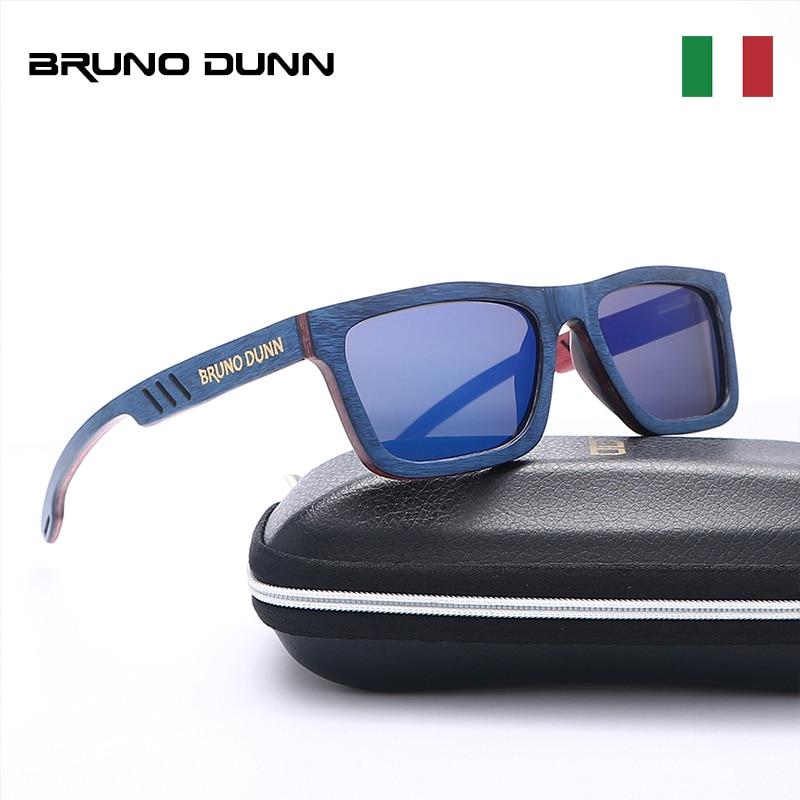 1be83cf700d Bruno Dunn Handmade retro Madeira Sunglases para As Mulheres de Luxo Da  Marca Dos Homens Polarizados