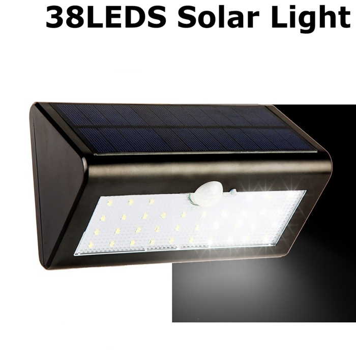 Good quality bright 38 led solar light waterproof motion sensor good quality bright 38 led solar light waterproof motion sensor pathway wall lamp solar powered panel street outdoor light in solar lamps from lights mozeypictures Images