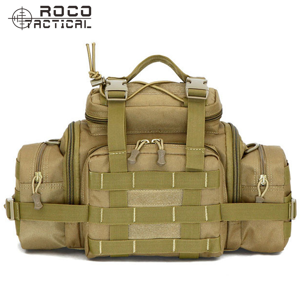 ROCOTACTICAL Molle Tactical Waist Pack Army Versipack 3 Ways Modular Deployment Compact Utility Carry Bag with Shoulder Strap windshield led strobe light warning light car flash signal emergency fireman police beacon car truck high power bright