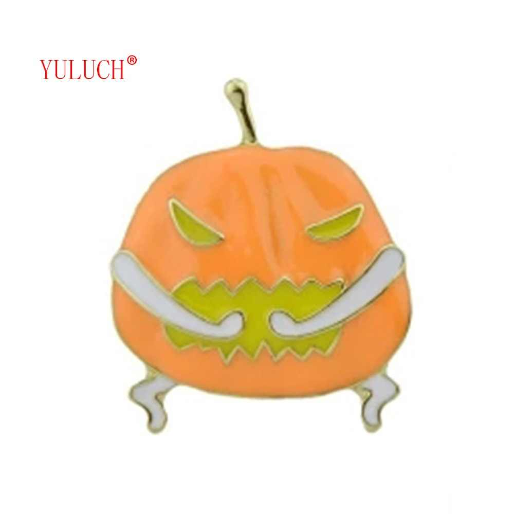 YULUCH Special pumpkin brooch Halloween elegant jewelry for woman party pins accessories girls gift Horror brooches B006