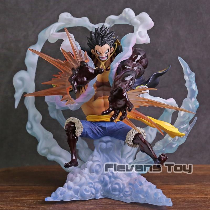 One Piece P O P Monkey D Luffy Gear 4th Leo Bazooka Ver PVC Figure Tot