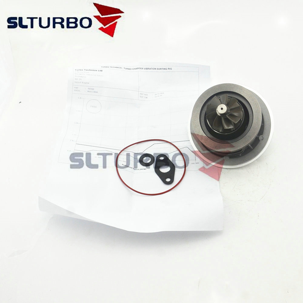 CHRA turbo charger core 707240 for Peugeot 807 2.2 HDI DW12TED4 95 Kw <font><b>129</b></font> <font><b>HP</b></font> - Balanced cartridge 726683 turbine repair kits NEW image