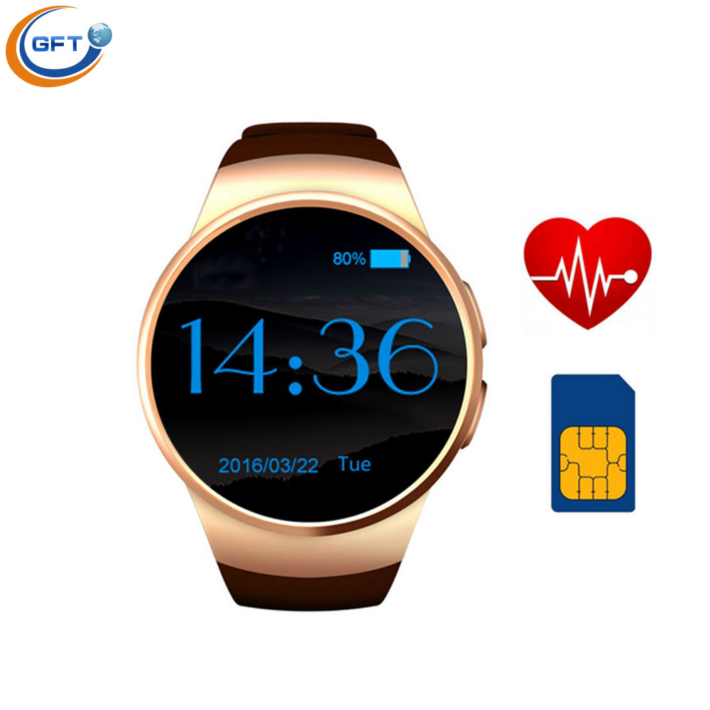 GFT kw18 smart watch sim android wear Smart Electronics for iOS Samsung HTC LG Android Smartphone Sports Wristwatch