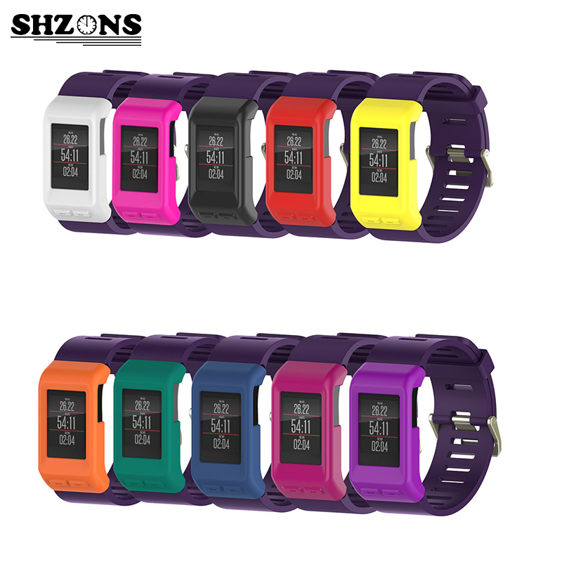 SHZONS Smart band Screen Protector Case waterproof Dustproof Case Protective Silicone Smart Accessories For Garmin vivoactive HR цена