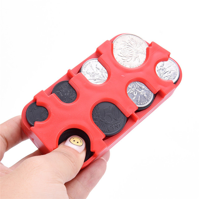 Mini Euro Coin Dispenser Plastic Storage Box Coin Collection Purse ...