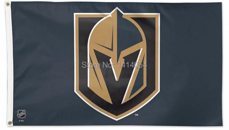 Vegas Golden Knights LOGO flag 150X90CM NHL 3X5FT Banner 100D Polyester brass grommets custom flags,free shipping