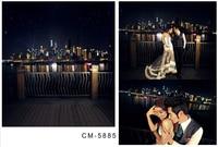 Customize Vinyl Cloth Print 3 D Night City Scenery Wallpaper Photo Studio Background For Portrait Photography