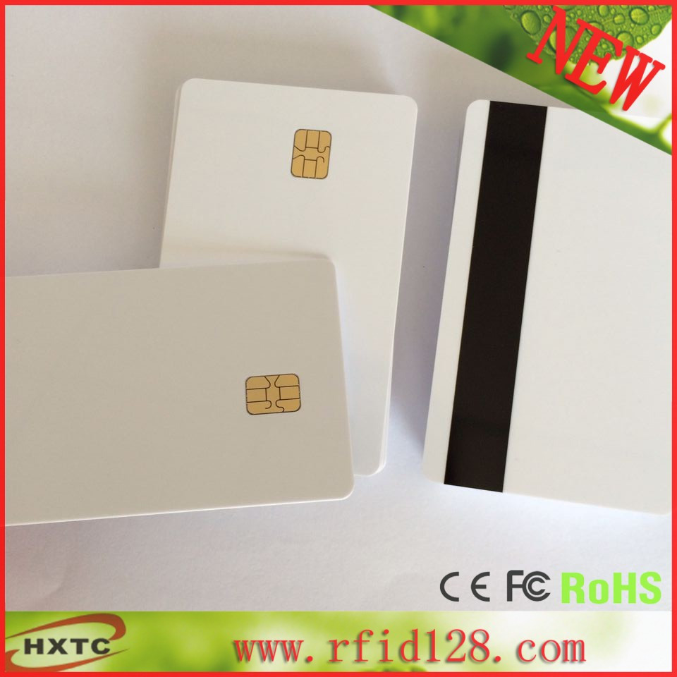 ISO 14443 RFID smart ic parking card school card sle4442 chip with magnetic stripe 100pcs/lot 200pcs lot customable 8 4mm mag stripe 2 track pvc smart ic card for iso hi co 2750 3000 4000 oe