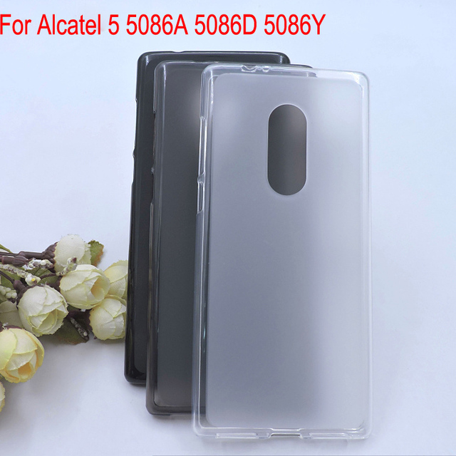 new arrival 497fc b13b9 US $0.45 |For Alcatel 5 5086A phone Cover Bag Case capa,For Alcatel5086D  5086Y Soft TPU full protective case back guard shell -in Fitted Cases from  ...