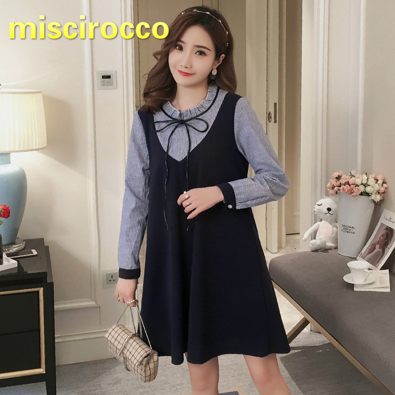 Two False Pieces Maternity Dress Bow Pregnant Womens Dress Long Sleeve OL Shirt+ Vest Fake Two-piece Suit Women TopTwo False Pieces Maternity Dress Bow Pregnant Womens Dress Long Sleeve OL Shirt+ Vest Fake Two-piece Suit Women Top