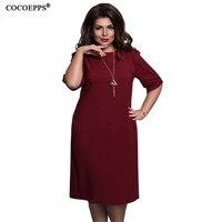 2017 6XL Plus Size Summer Women Fashion Elegant Generous Dress Comfortable Casual Dress Large Size Mother