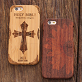 """Para iphone 6 6 s caso duro de madera retro grabado patrón de teléfono casos de Bambú Natural de Madera A Prueba de Choques de La Contraportada Para iPhone6 4.7"""""""