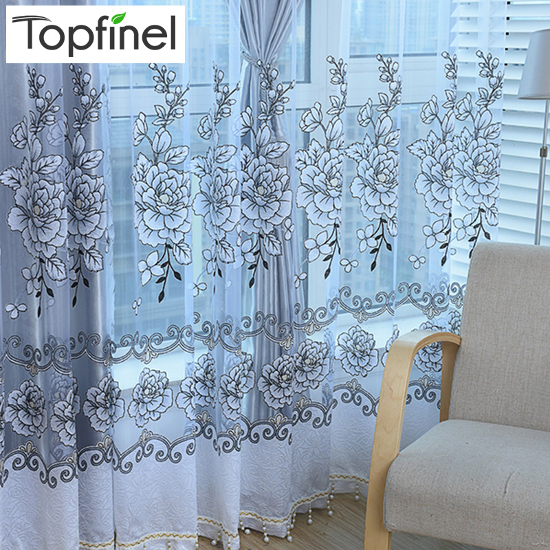 2015 New grey shade luxury modern Jacquard tulle sheer window curtains for  living room the bedroom blinds embroidered drapes. Minnie Mouse Curtains Promotion Shop for Promotional Minnie Mouse